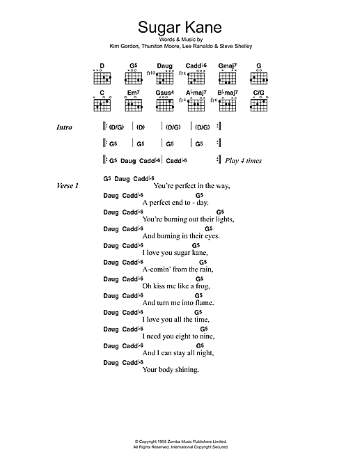 Sugar Kane Sheet Music