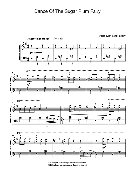 Dance Of The Sugar Plum Fairy (from The Nutcracker) (Easy Piano)