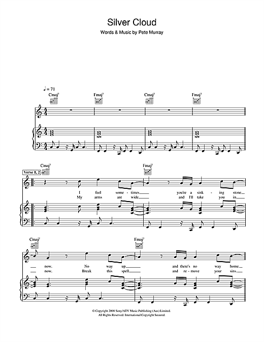 Silver Cloud Sheet Music