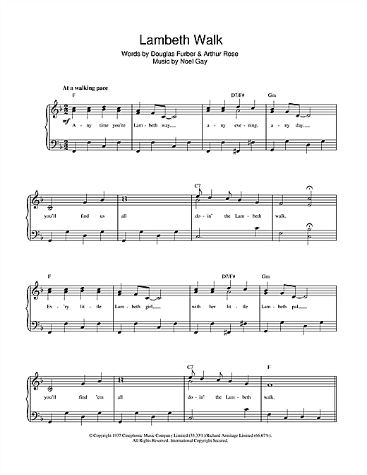 The Lambeth Walk Sheet Music
