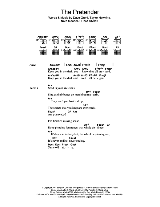 The Pretender Sheet Music