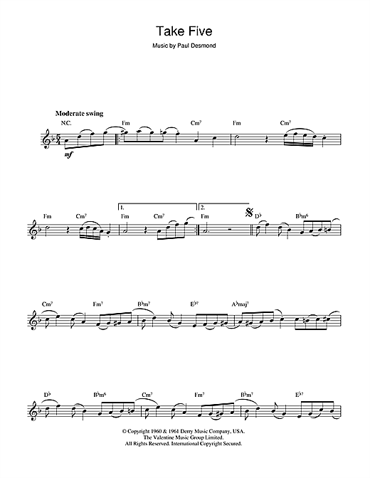 Take Five Sheet Music