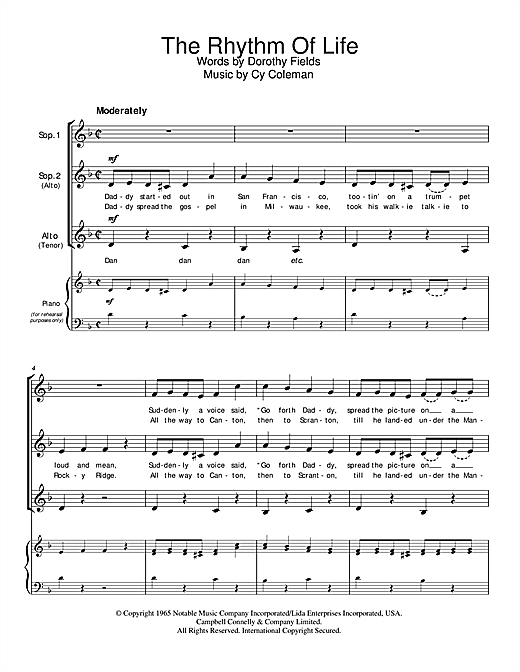 The Rhythm Of Life Sheet Music