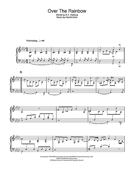 Over The Rainbow Sheet Music