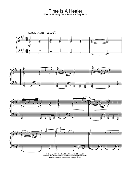 Time Is A Healer Sheet Music