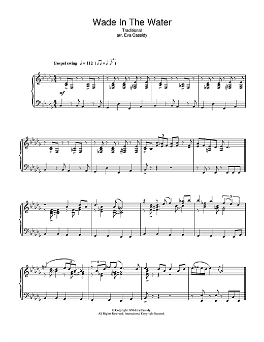 Wade In The Water Sheet Music
