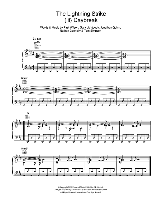 The Lightning Strike (iii. Daybreak) Sheet Music
