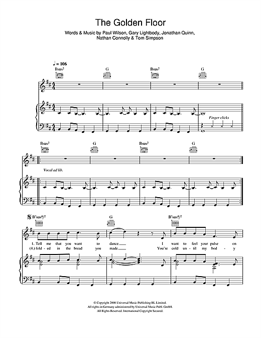 The Golden Floor Sheet Music