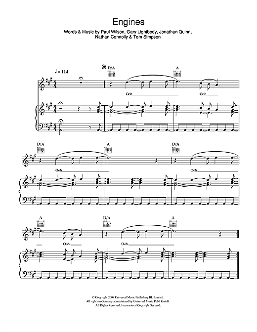 Engines Sheet Music