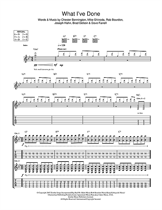 What I've Done Sheet Music