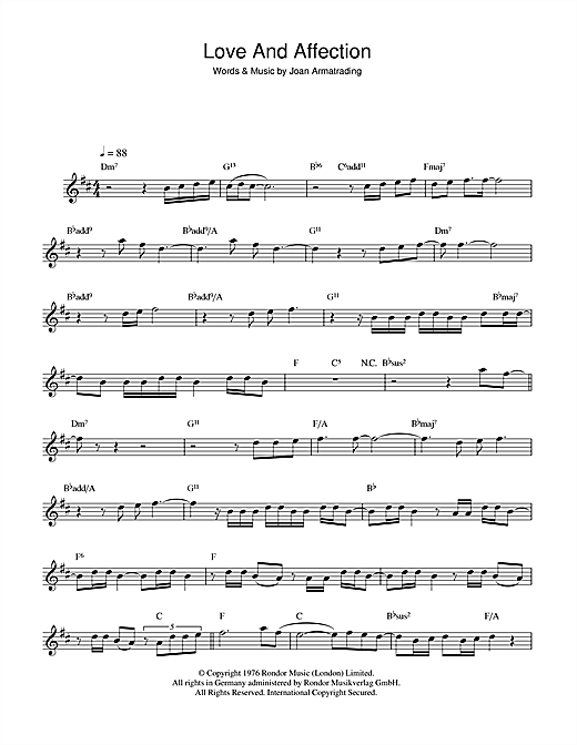 Love And Affection Sheet Music