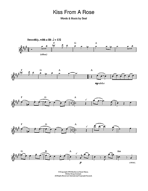 Kiss From A Rose Sheet Music