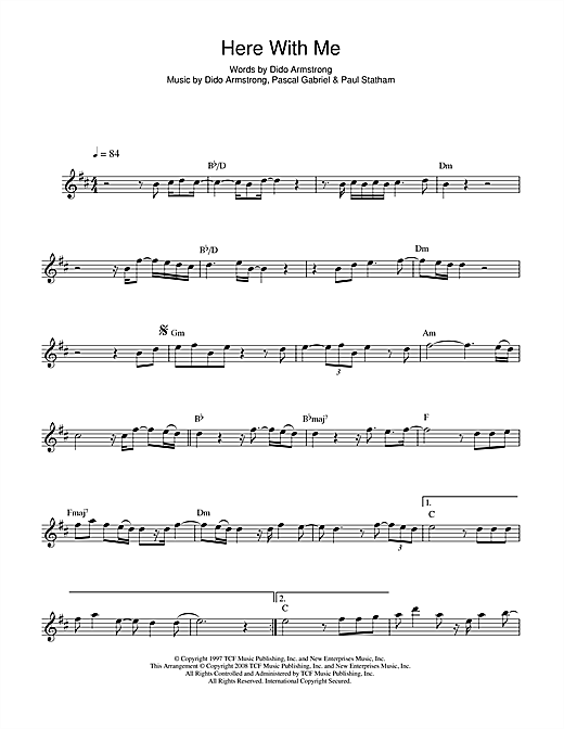 Here With Me Sheet Music