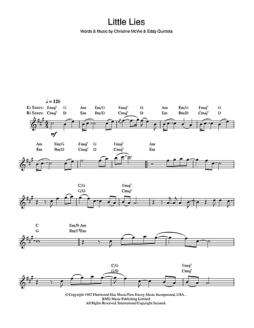 Little Lies Sheet Music