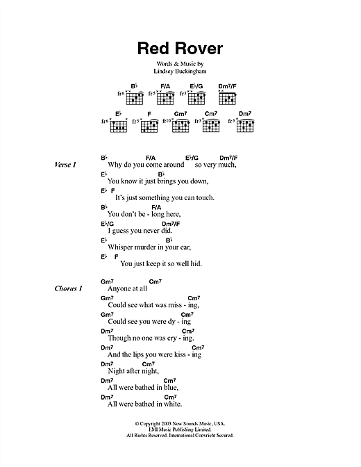 Red Rover Sheet Music