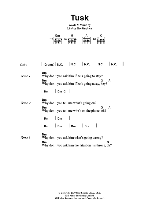 Tusk Sheet Music