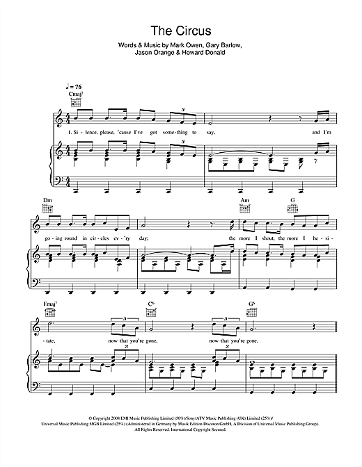 The Circus Sheet Music
