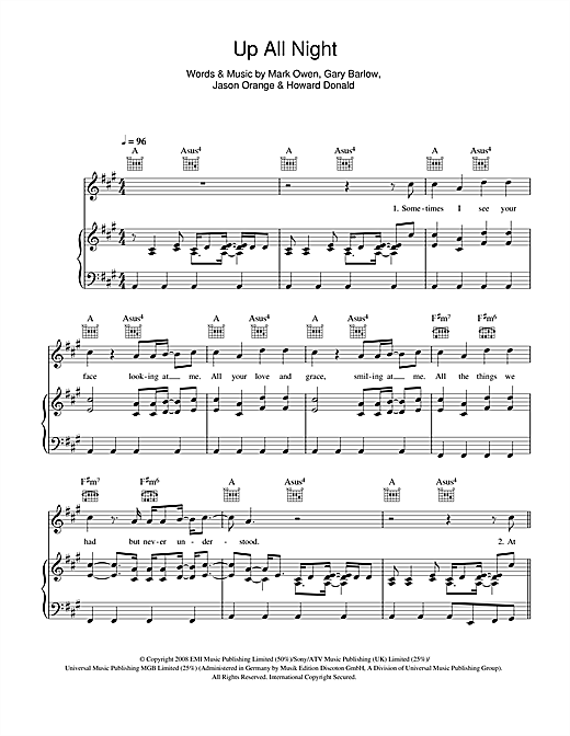 Up All Night Sheet Music