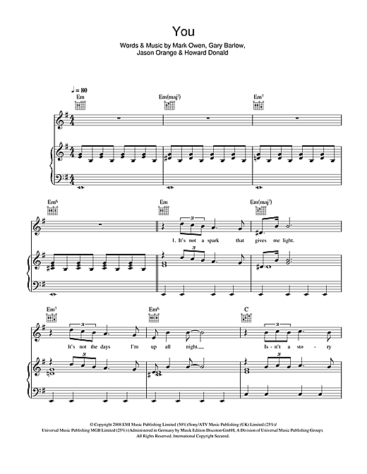 You Sheet Music