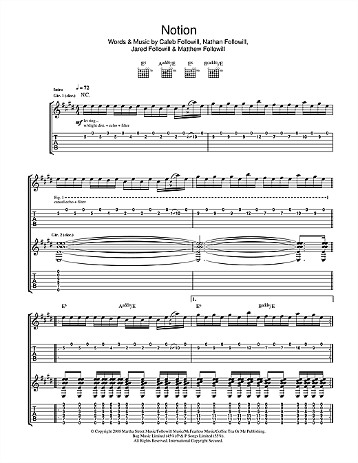 Notion Sheet Music