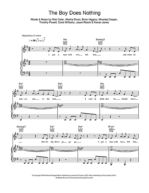 The Boy Does Nothing Sheet Music
