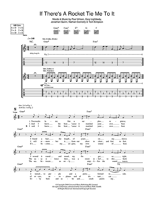If There's A Rocket Tie Me To It Sheet Music