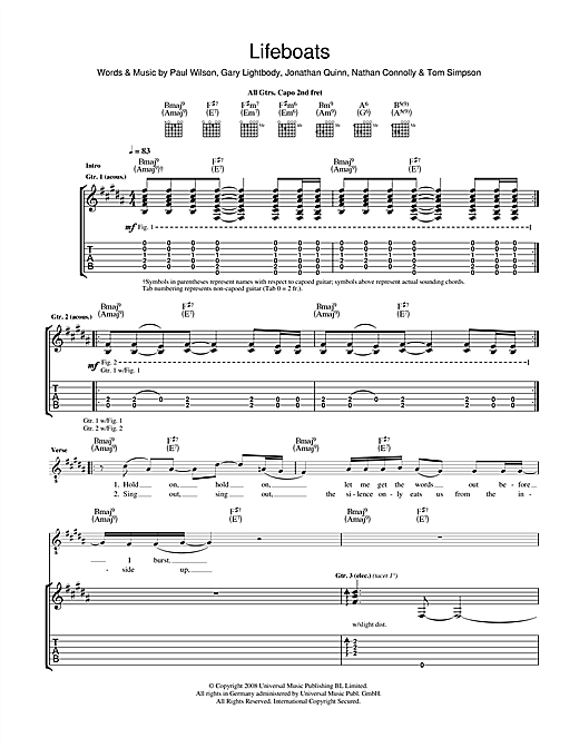 Lifeboats Sheet Music