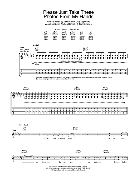 Please Just Take These Photos From My Hands (Guitar Tab)