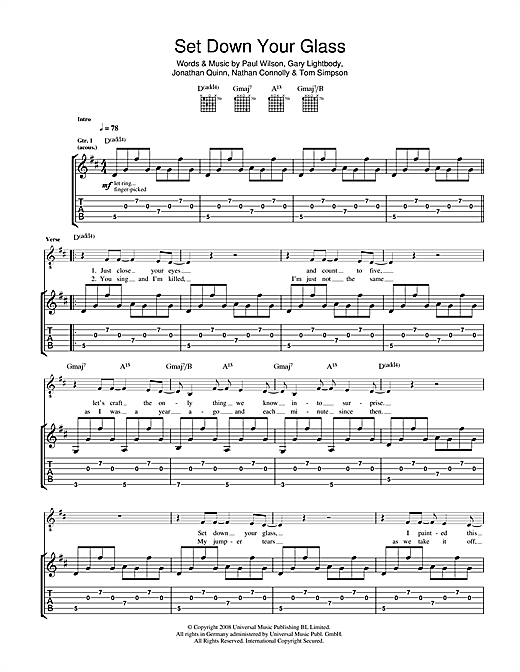 Set Down Your Glass Sheet Music