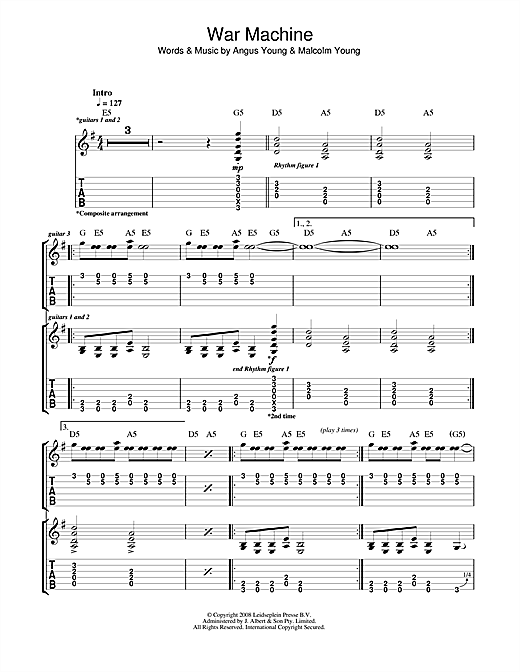 War Machine Sheet Music
