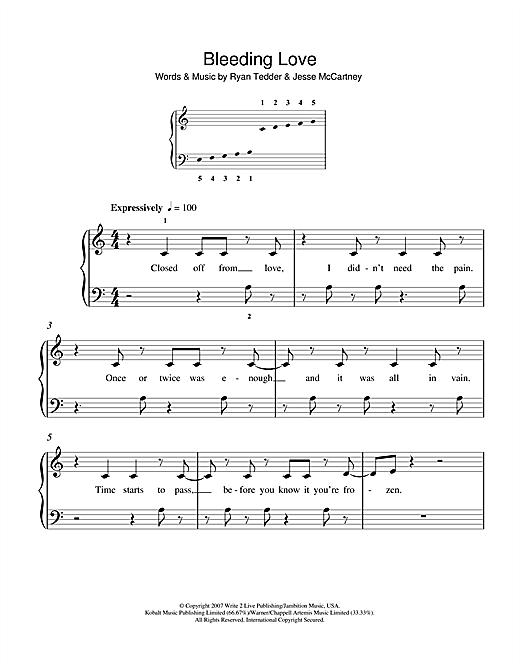 Bleeding Love Sheet Music