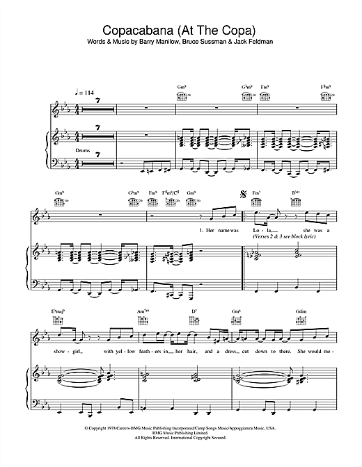 Copacabana (At The Copa) Sheet Music