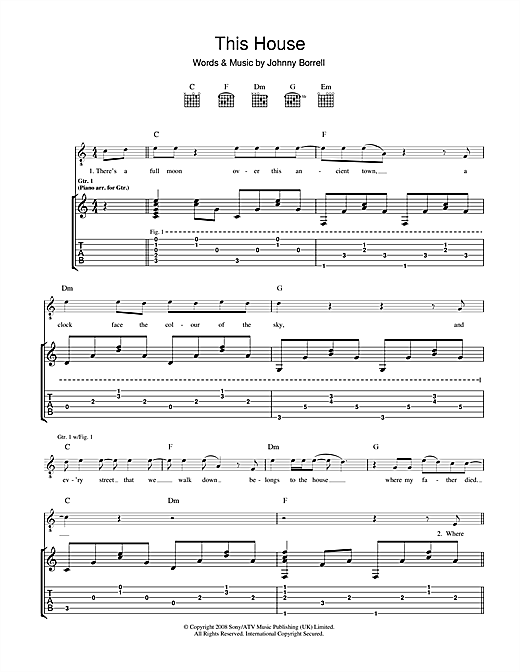 The House Sheet Music