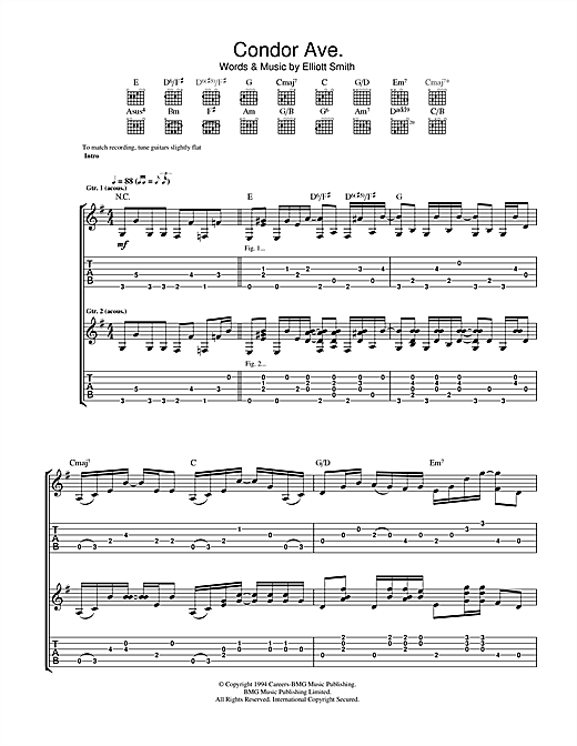 Condor Ave. Sheet Music