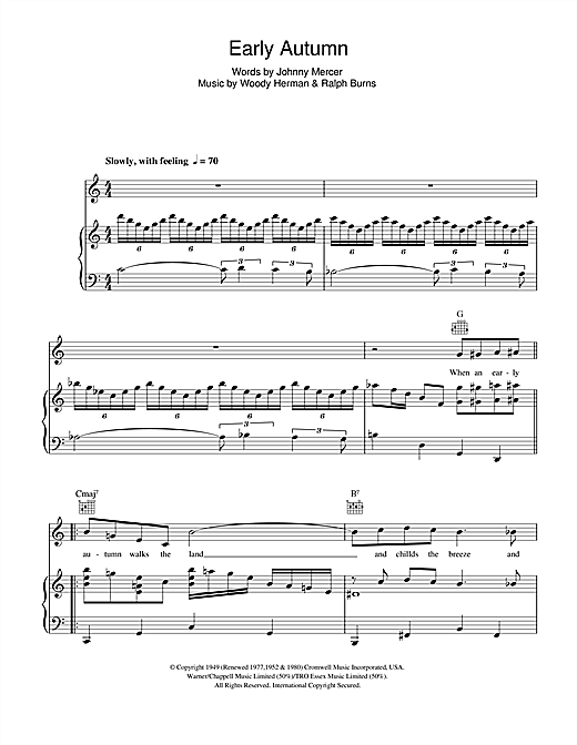 Early Autumn Sheet Music