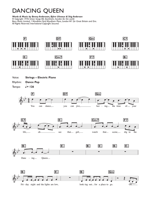 Dancing Queen Sheet Music