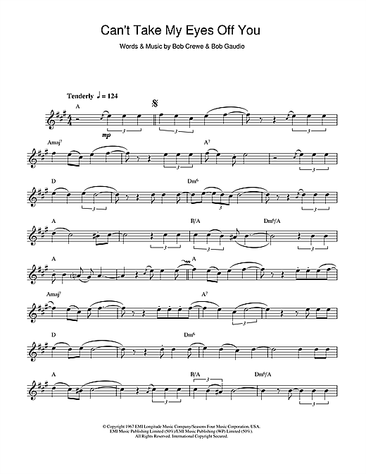 Can't Take My Eyes Off Of You Sheet Music