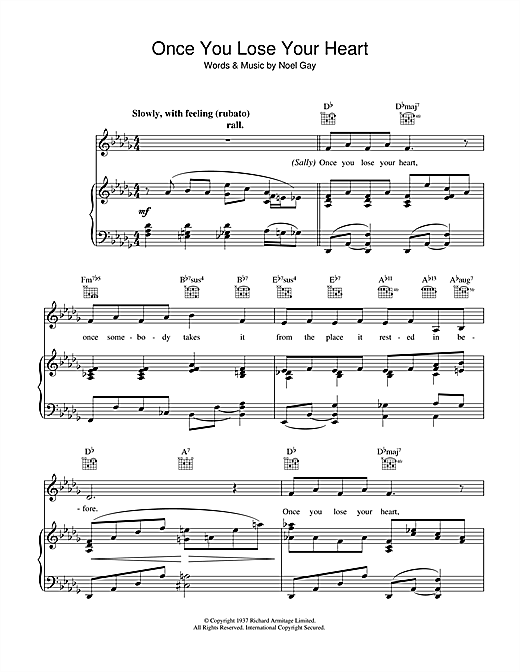 Once You Lose Your Heart (from Me And My Girl) Sheet Music