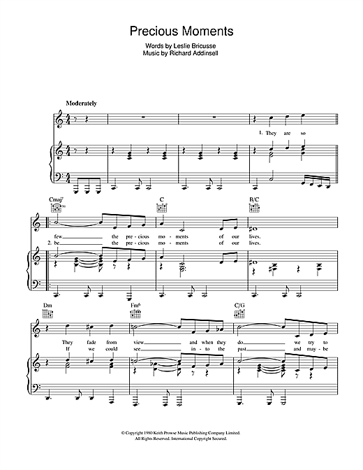 Precious Moments Sheet Music