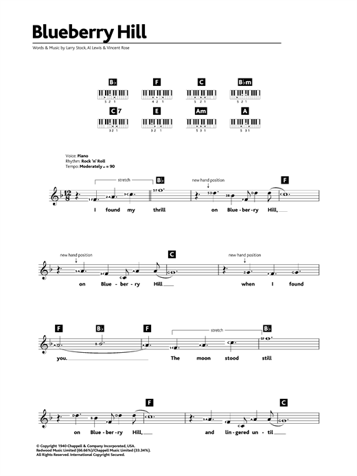 Blueberry Hill Sheet Music