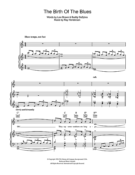 The Birth Of The Blues Sheet Music