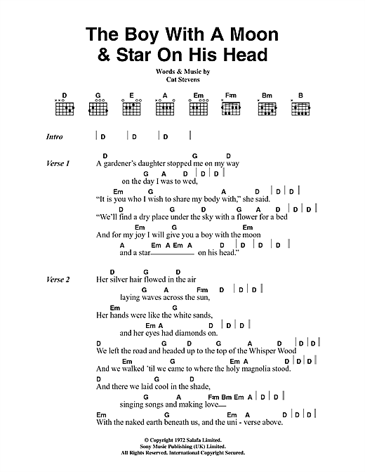The Boy With The Moon And Star On His Head Sheet Music