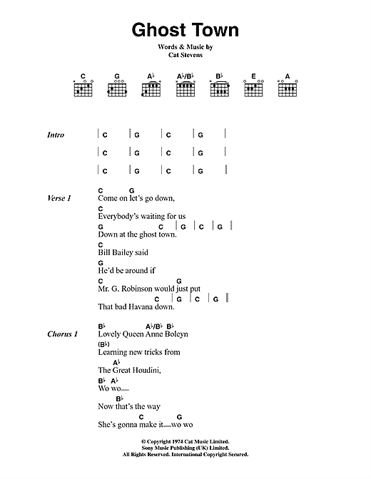 Ghost Town (Lyrics & Chords)