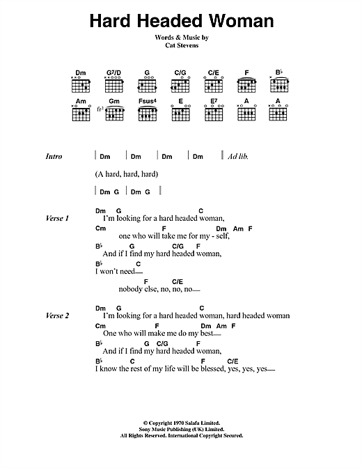 Hard Headed Woman Sheet Music
