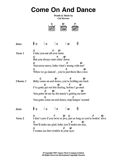Come On And Dance Sheet Music