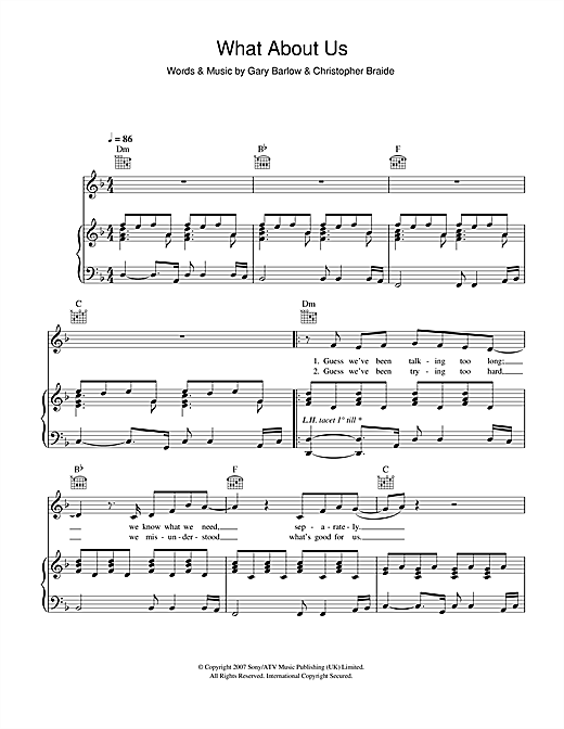 What About Us Sheet Music