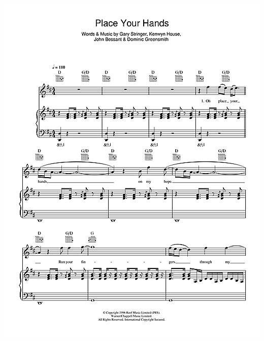 Place Your Hands Sheet Music