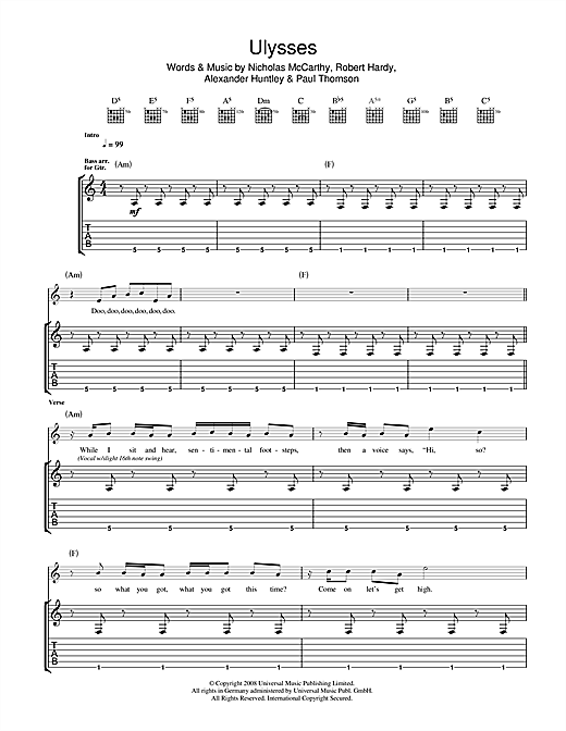 Ulysses Sheet Music