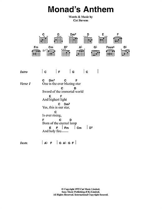 Monad's Anthem Sheet Music