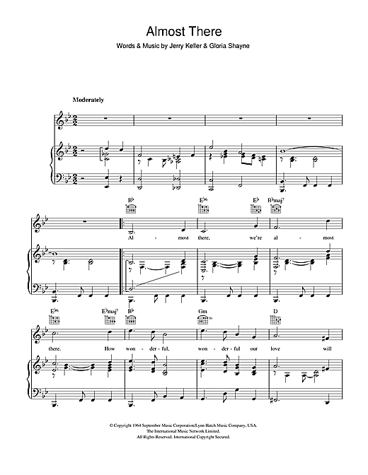Almost There Sheet Music